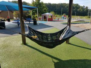 swing in Artificial grass