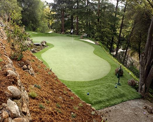 golf hillside