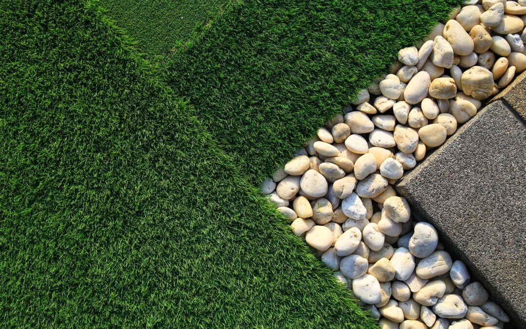stones for artificial turf landscape